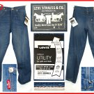 """LEVI'S ENGINEERED """"URBAN UTILITY"""" SELVAGE CINCH TWISTED SEAM JEANS W27 L32 (Actual size 27 31)"""