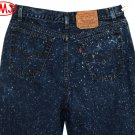"VINTAGE LEVI'S 505 ""MILKY WAY"" SPOT BLEACHED ""STAR SPRINKLED"" BLUE DENIM JEANS Made in USA W31 L33"