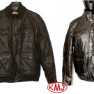 $130.00 BRAND NEW LEVI'S BOMBER FAUX LEATHER DARK BROWN ZIPPER & SNAP BUTTON JACKET in size XL