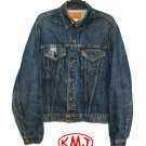 LEVI'S VINTAGE TYPE III 1970s CLASSIC STONEWASH BLUE DENIM TRUCKER JACKET size 44 - MADE IN USA