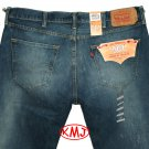 Brand New LEVI'S 501 CLASSIC BUTTON-FLY KINNEY BLUE SPOT BLUE DENIM JEANS in size W38 L30