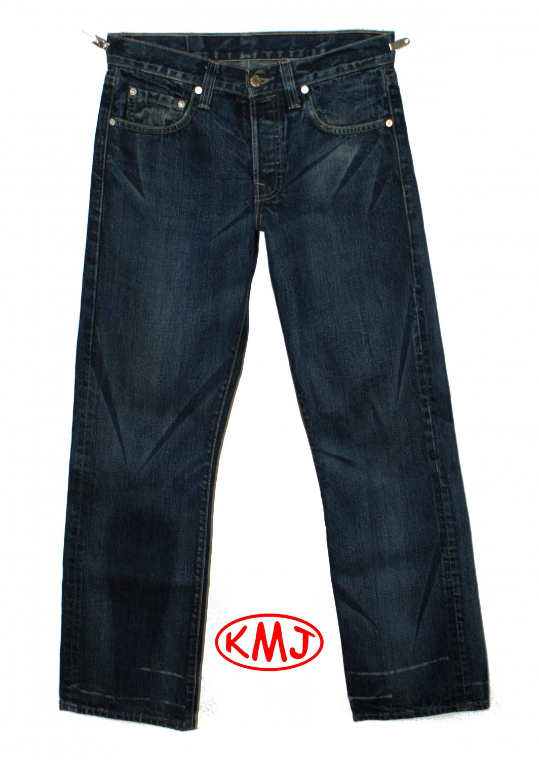LEVI'S PREMIUM HESHER CAT SCRATCH BUTTON-FLY DENIM JEANS MADE IN USA W30 L30 (Actual size 30 31)