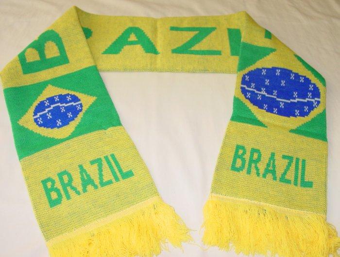 BRAZIL TEAM/CLUB SCARF SOCCER- WE SHIP USPS