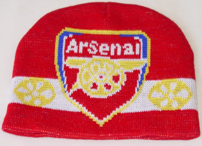 ARSENAL FC BEANIE/SKULL CAP SOCCER BRONX CAP WE SHIP USPS