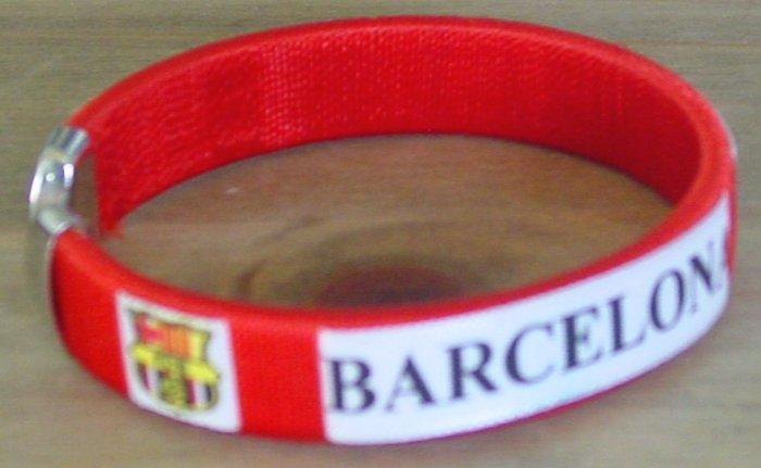 FC BARCELONA BRACELET/WRISTBAND SOCCER RED (E)- WE SHIP USPS