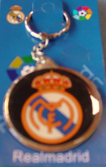 REAL MADRID CF KEYCHAIN SOCCER KEYRING- WE SHIP USPS #ARLGP