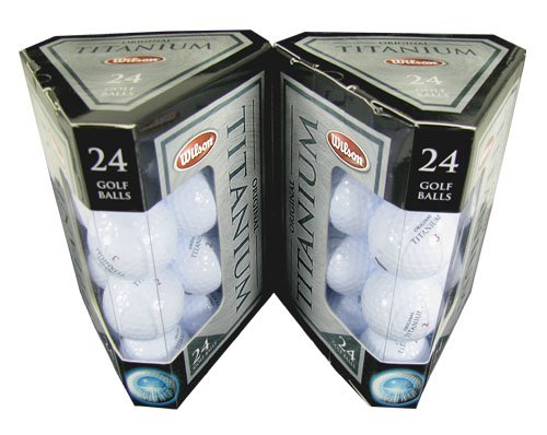 FOUR DOZEN NEW WILSON ORIGINAL TITANIUM DISTANCE GOLF