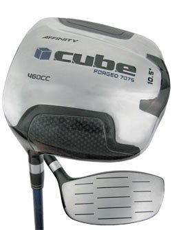 NEW AFFINITY GOLF 460cc LH CUBE SQUARE DRIVER 10.5° REG