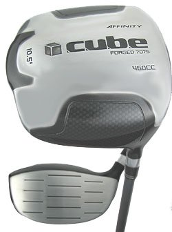 NEW AFFINITY GOLF 460cc CUBE SQUARE DRIVER 10.5° REG