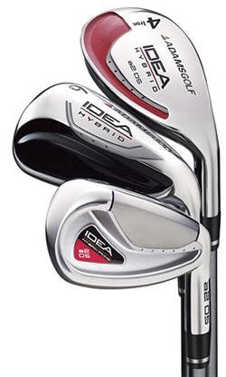 ADAMS GOLF TIGHT LIES IDEA A2 OS HYBRID IRONS STEEL STF