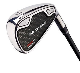 NICKENT GOLF- 3DX HYBRID IRONS 3-PW GRAPHITE STIFF