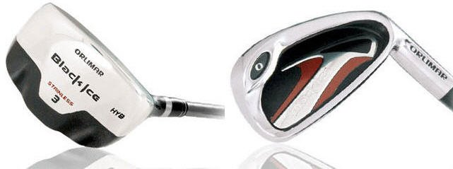 ORLIMAR GOLF BLACK ICE HYBRID IRONS 3-PW GRAPH/STEEL