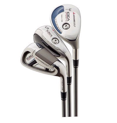 NEW ADAMS GOLF IDEA TECH OS 3PW HYBRID IRONS GRPH/STL S