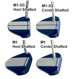 "NEW RAY COOK GOLF M1-3G BLUE HEEL SHAFT 35"" PUTTER"