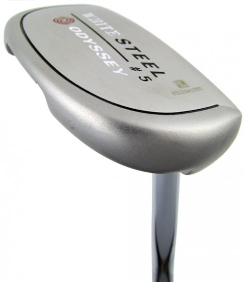 "NEW ODYSSEY GOLF WHITE STEEL ROSSIE 35"" PUTTER"