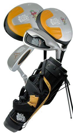 NEW ROCKBOTTOMGOLF.COM JUNIOR CAVEMAN SET BAG AGE 10-14
