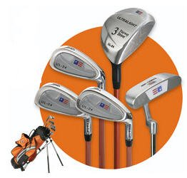 US KIDS GOLF - ULTRALITE ORANGE 5 CLUB SET W/ BAG