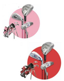 US KIDS GOLF - ULTRALITE PINK 3 CLUB SET W/ STAND BAG
