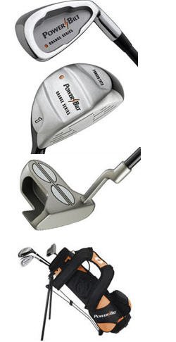 POWERBILT JUNIOR GOLF SET WITH BAG AGES 3-5 ORANGE
