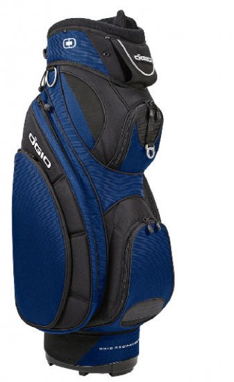 "NEW OGIO GOLF 9.5"" AMP CART BAG- INDIGO BLUE & BLACK"