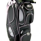 NEW 2008 BAG BOY NXO REVOLVER CART GOLF BAG- BLACK/PINK