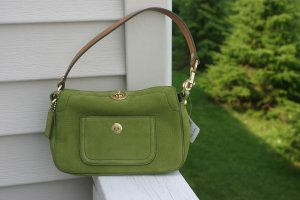 Coach Chelsea Green Nubuc Demi Purse