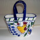 ROOSTER & FRUITS CERAMIC BAG-NEW, STYLE-EYES BY BAUM BROS