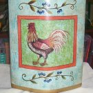"ROOSTER VASE, NEW, 10""H ..BEAUTIFUL COLORS & DESIGN"