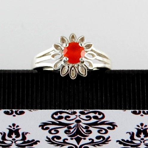 Feel the Fire Genuine Mexican OPAL Sterling Silver Daisy RING