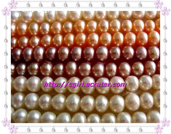 GENUINE PINK OR WHITE FRESHWATER PEARL NECKLACE!