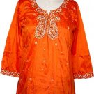 Exclusive Party Silk Tunic Top