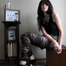 Laced together - sheer black lace leggings