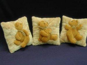 Bear Figured Mini Cushion (a set of 3)