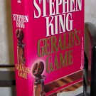 Gerald's Game by Stephen King Paperback Novel