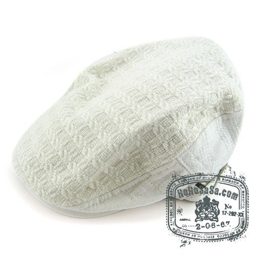 Unisex Man Woman Newsboy Style White Col Beret Hat NWT