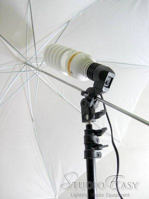 Photo Studio Lighting Umbrella, tripod, adaptor package