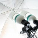 Photo Studio Lighting Umbrella, Tripod, Double adaptor package