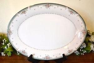 "Noritake China Greenbrier Large Oval Platter 14"""