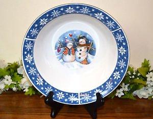 Crofton Snowman Christmas Holiday Vegetable Bowl