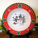 Montgomery Ward Soup Bowl Country Pals Snowman  Holiday Christmas