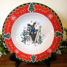 Montgomery Ward Soup Bowl Country Pals Moose  Holiday Christmas