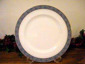 Mikasa Chaucer Platter Bone China  Blue White Gold