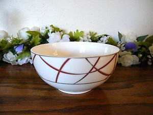 222 Fifth Cereal Bowl Savoy Red White Holiday Christmas