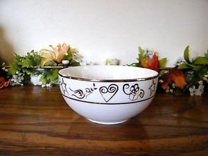 JcPenney Holiday Wishes Platinum Cereal Bowl