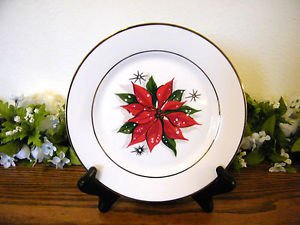 Target Home Salad Plates Holiday Poinsettia Christmas