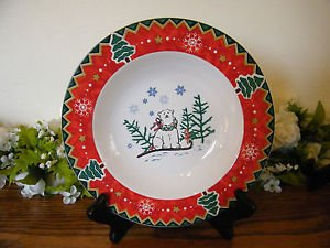 Montgomery Ward Soup Bowl Country Pals Bear Holiday Christmas