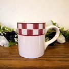 Baum Bros Style Eyes Country Checker Mug Red White