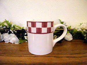 Baum Bros Style Eyes Country Checker Mug Red White