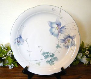 Mikasa Lyric Blue Garden Dinner Plate Flowers