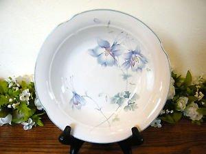 Mikasa Lyric Blue Garden Soup Bowl Flowers